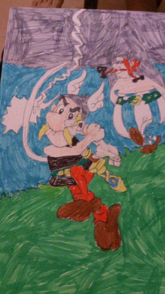 Dessin Astérix et Obélix en couleurs