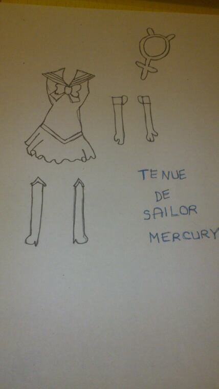 Dessin sailor moon crystal: tenue de sailor mercury