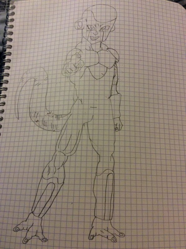 Dessin dragon ball z: Freezer forme final