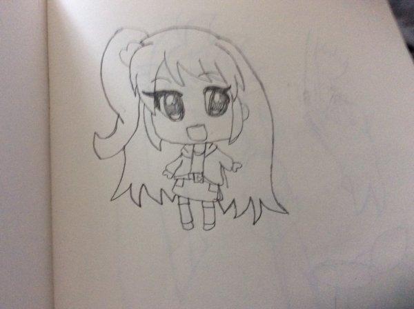 Dessin chibi manga fille