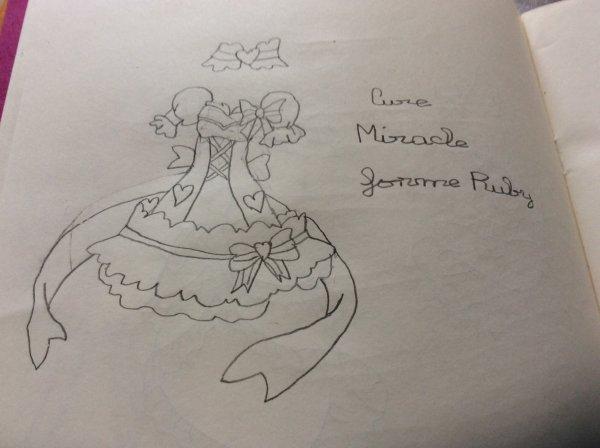 Tenue Mahou Tsukai Precure: Cure Miracle forme Ruby