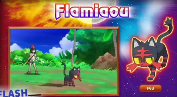 Les starters et les légendaires de pokemon Lune et Soleil