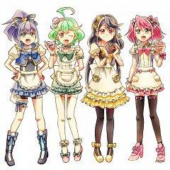 Yu gi oh arc v: Yuzu, Séréna, Rin et Ruri
