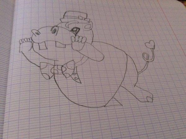 Dessin Yu gi oh arc v: Hippopotame potartiste
