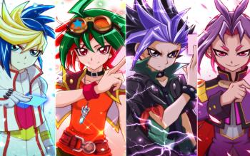 Yu gi oh arc v: Yuya, Yuto, Yugo, Yuri