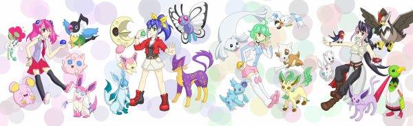 yu gi oh arc v: Yuzu, Séréna, Rin et Ruri pokémon