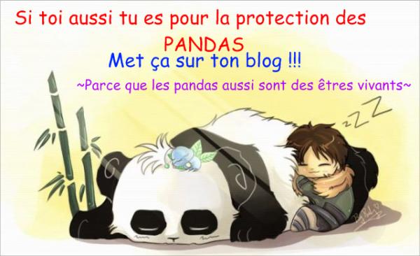 Si toi aussi tu es pour la protection des PANDAS:
