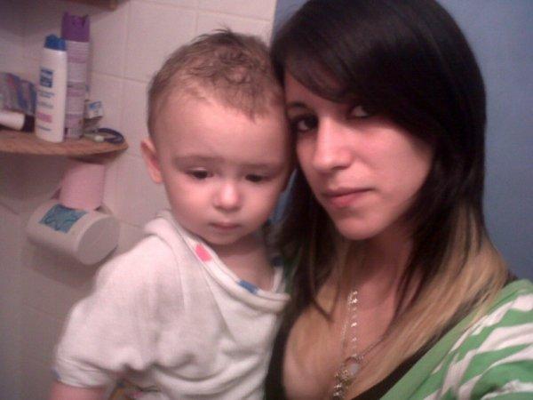 Moi et mon fils :) que du bonheur !