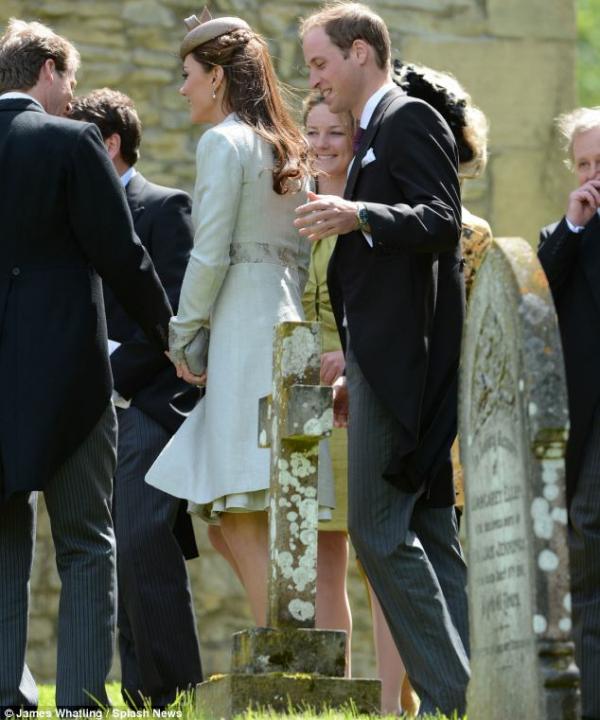 Kate au mariage de la nièce de Lady Di