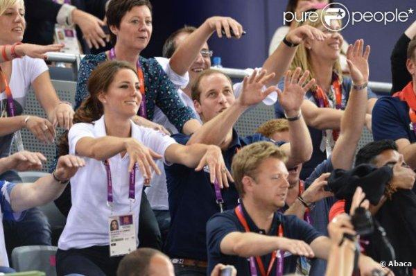 Kate et William, heureux pour une médaille d'or