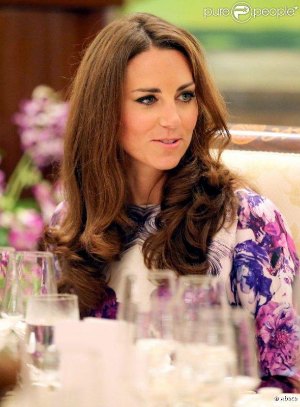 Kate à la résidence du président de Singapour