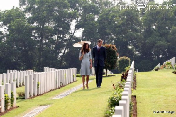 Kate et William au cimetière
