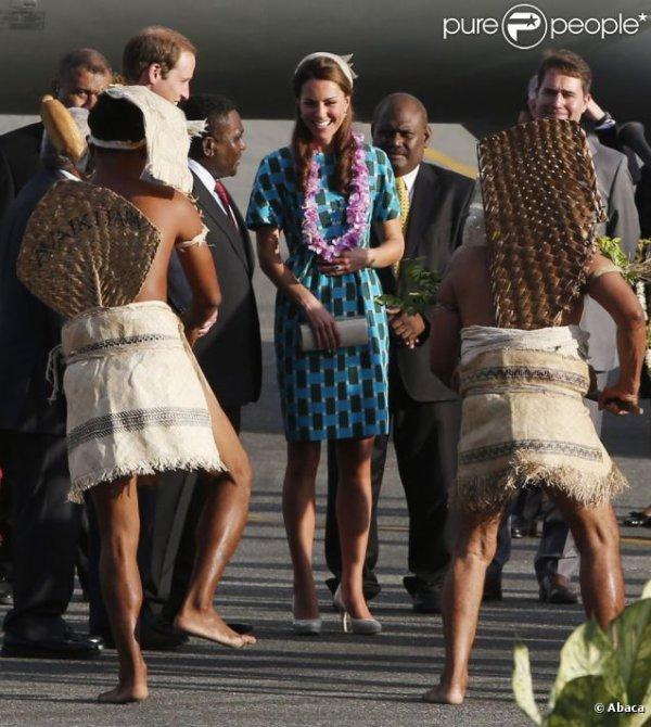 Kate et William pour leur arrivée aux Iles Salomon