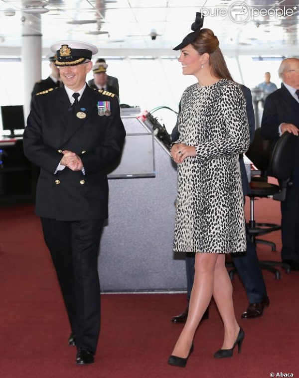 Kate au baptême de The Royal Princess