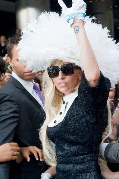 Lady Gaga Heads to the MTV Studios