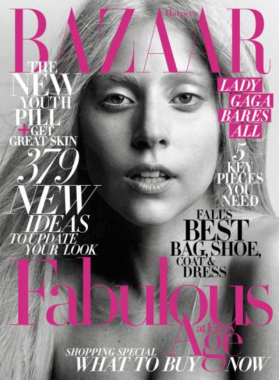 Lady Gaga Bares All in Harper's Bazaar's October Issue