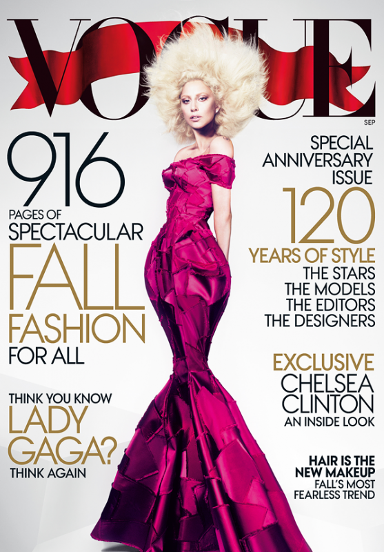 Lady Gaga Covers VOGUE Magazine's September Issue