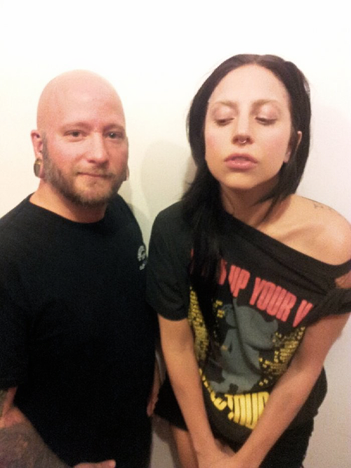 Lady Gaga Gets a Septum Piercing