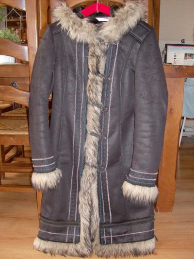 Long manteau marron Promod