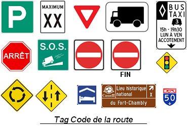 Le tag du Code de la Route