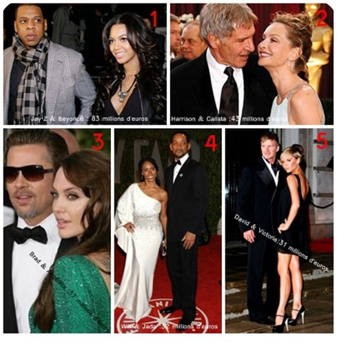 _______________________________  Le Top 5 des couples les plus riche   _______________________________