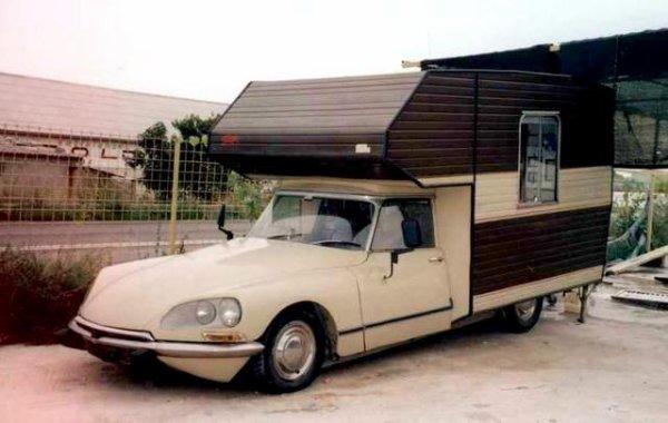 Ds camping car des citro n anciennes pas comme les autres - Camping car poids lourd avec garage voiture ...