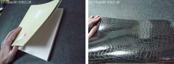 ~ Bricolage: couvrir un cahier façon cuir ~