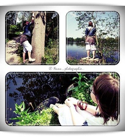 Shooting photo' avec Emeline . Au lac . Thème:  « Je suis moi , et personne d'autre ».