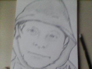 les dessins que j'ai dessiner je travail qu'au crayon de bois debutante