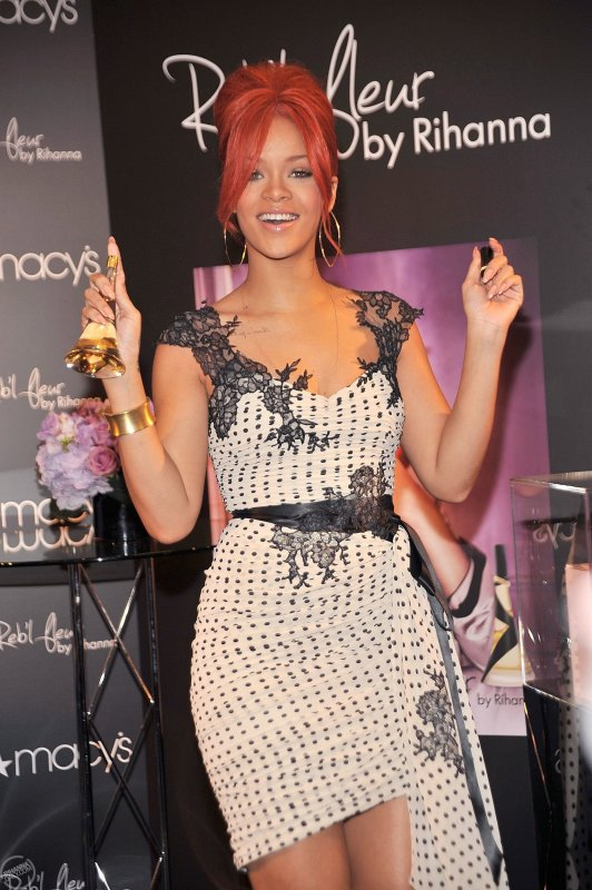 Rihanna - Promoting Reb'l Fleur at Macy's Herald Square in NYC
