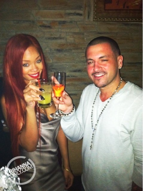 Rihanna parties at La Vie Lounge in NYC with DJ Prostyle
