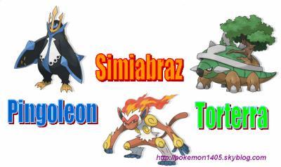 Pingoleon simiabraz et torterra pokemon - Pokemon pingoleon ...
