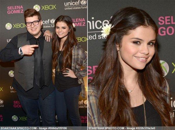Photos de Selena au concert de l'UNICEF