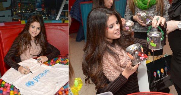 18 janvier : Selena à la soirée dessert organisé par  l'UNICEF