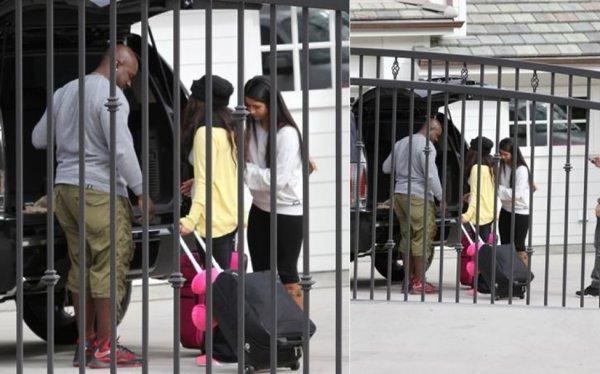 2 février : Selena et sa cousine mettant leurs valises dans leur voiture chez Selena