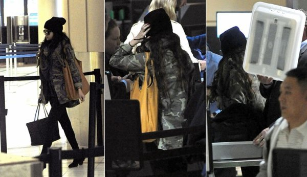 5 février : Selena à l'aéroport international de Los Angeles
