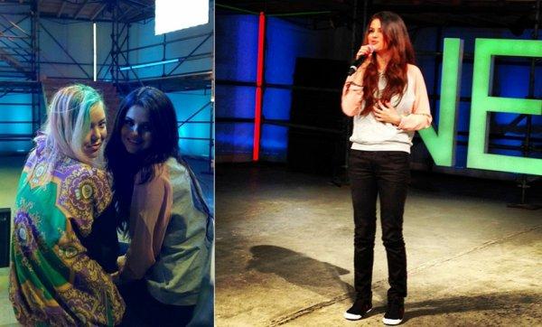 6 février : Selena au salon d'automne de mode Adidas Neo à New York
