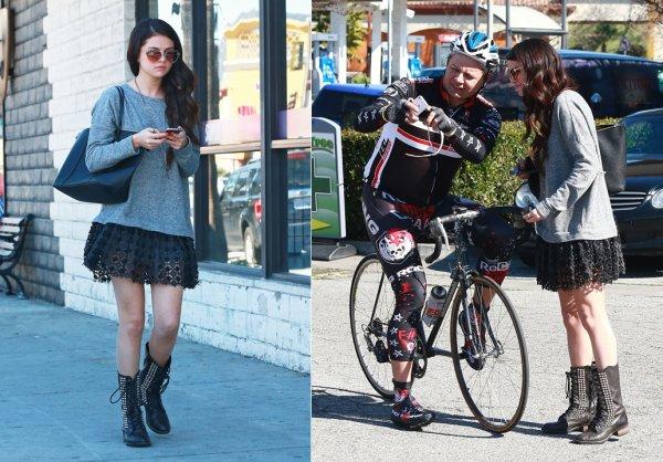 12 février : Selena déjeunant avec son amie Lily Collins au restaurant japonais, Sushi Dan