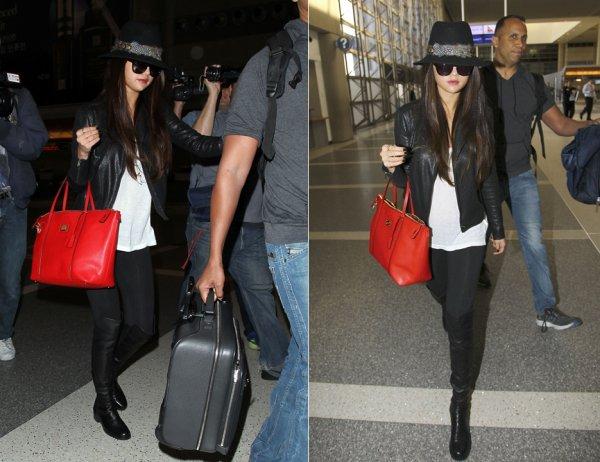 15 février : Selena arrivant à l'aéroport international de L.A pour aller à Paris