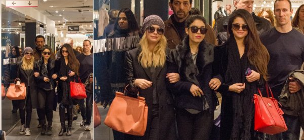 16 février : Selena, Vanessa et Ashley faisant du shopping à Paris