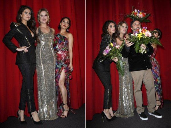 19 février : Les actrices de Spring Breakers à l'avant-première de leur film à Berlin, en Allemagne