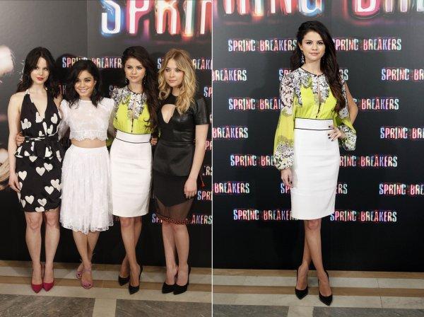 21 février : Les actrices de Spring Breakers à une conférence de presse, à Madrid, en Espagne