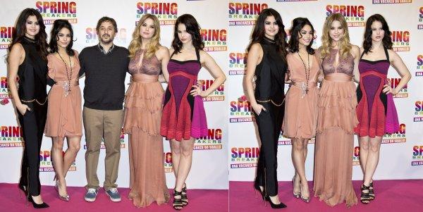 22 février : Les actrices de Spring Breakers à l'avant-première de leur film à Rome, en Italie