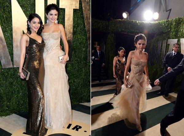 24 février : Selena et Vanessa, à Los Angeles, pour les Vanity Fair Oscar Party 2013