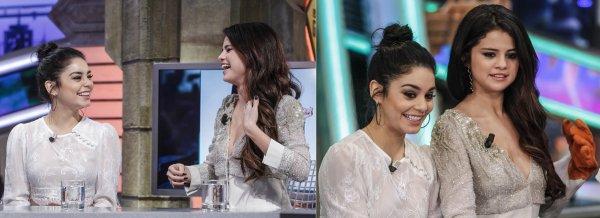 "Selena et Vanessa dans l'émission ""El Hormiguero"" à Madrid, en Espagne"