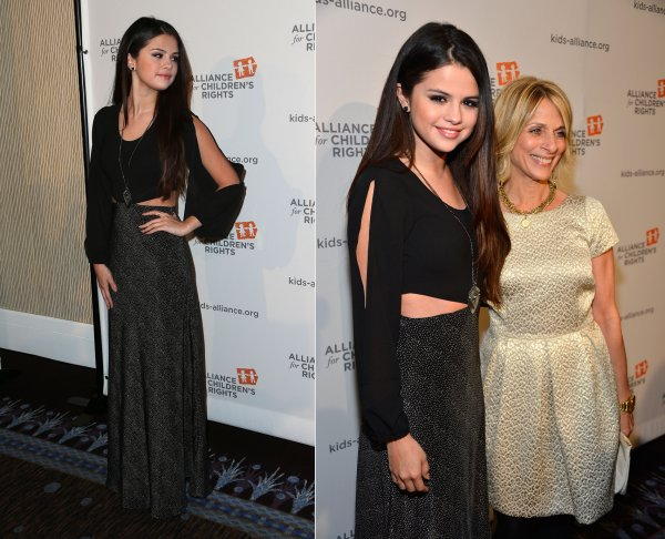 "8 mars : Selena au dîner de la fondation ""The Alliance For Children's Rights"" dans l'hôtel Beverly Hilton, à Beverly Hills"