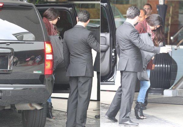 16 mars : Selena arrivant à l'hôtel SLS à Beverly Hills pour une interview pour la presse