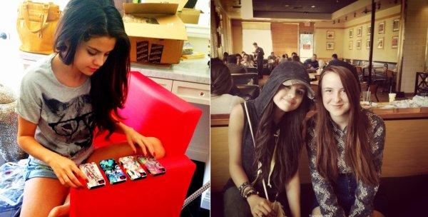 Photos personnelles récentes de Selena avec des fans ou des amies