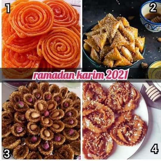 Choisi quoi pour mangé Ramadan