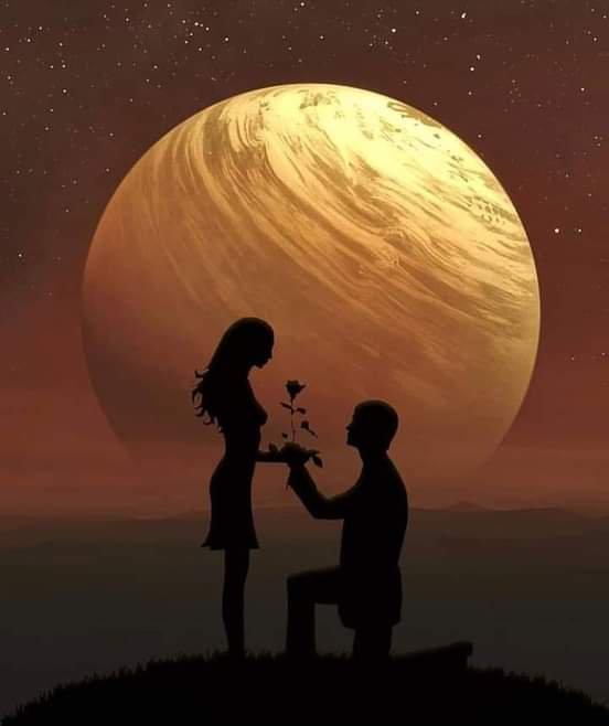 """Mon expression d'amour pour cette soirée  Je dirai """" au val d'amour, le pouls du c½ur,  rythme les heures et exprime la cadence. De ton  regard pétillant, l'½il est hardi au chemin splendide, Un trouble d'amour. Douce soirée"""